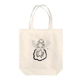輝く星と天使 Tote bags