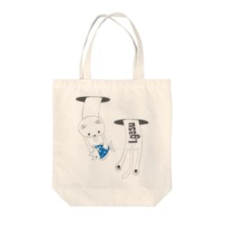 I.gasu cat hole【アイガス】 Tote bags
