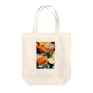 アジアン ティータイム Tote bags