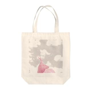 鹿 Pink Spark トートバッグ