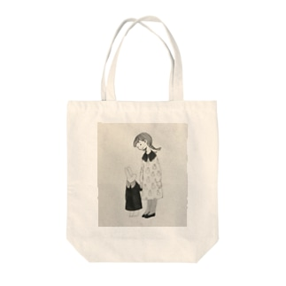 うさぎのワンピース Tote bags