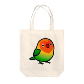 Chubby Bird ルリゴシボタンインコ Tote bags