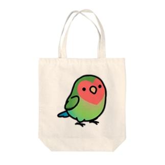 Cody the LovebirdのChubby Bird コザクラインコ Tote bags