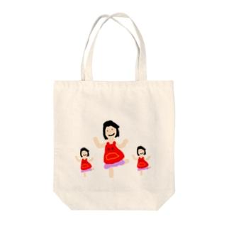 ママ3 Tote bags