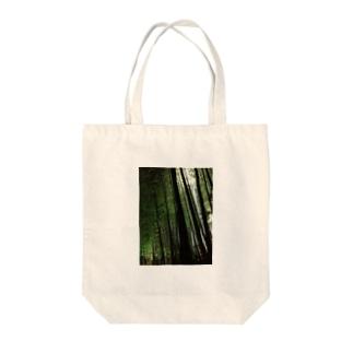 Night bamboo Tote bags