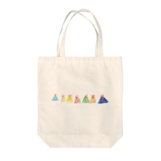 うさぎのプリン Tote bags