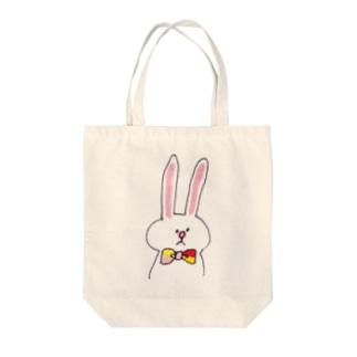 蝶ネクタイうさぎ Tote bags