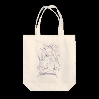 縁の小間物問屋のしば犬 Tote bags