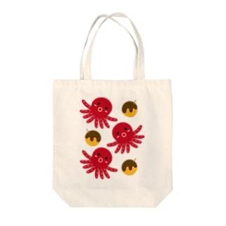 タコ&たこ焼き Tote bags