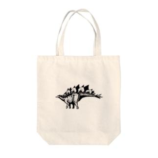 Atelier*Lorschのステゴサウルス Tote bags