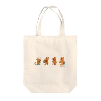 くまのローシュ Tote bags