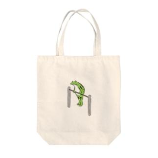 鳥獣戯画 鉄棒 Tote bags