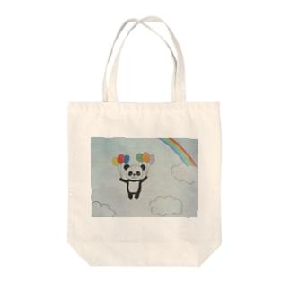 風船パンダ Tote bags