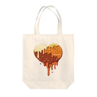 チョコハート Tote bags
