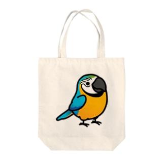 Chubby Bird ルリコンゴウインコ Tote bags