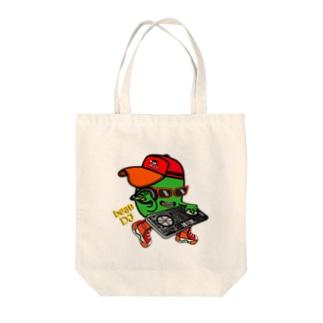Bean DJ Tote bags