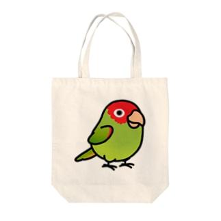 Chubby Bird オナガアカボウシインコ Tote bags