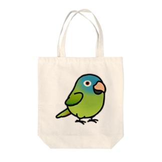Chubby Bird トガリオインコ Tote bags