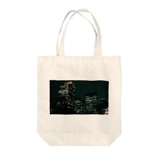 Tokyo night Tote bags