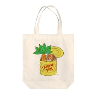 多肉植物たにくさん (空き缶に集合) Tote bags