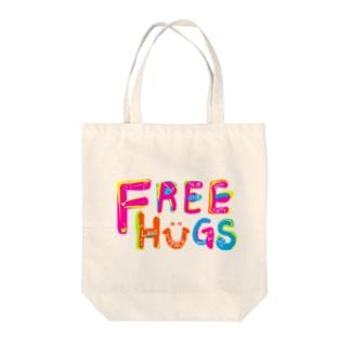 フリーハグ/FREE HUGS Tote bags