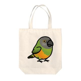 Chubby Bird ネズミガシラハネナガインコ Tote bags