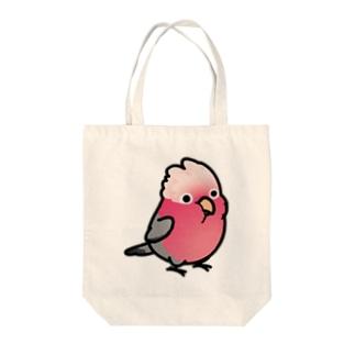 Chubby Bird モモイロインコ Tote bags