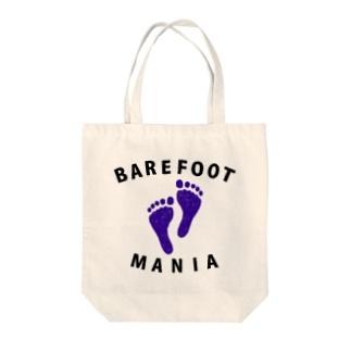 ベアフットマニア Tote bags