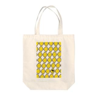 消しゴムはんこde鳥パターン Tote bags