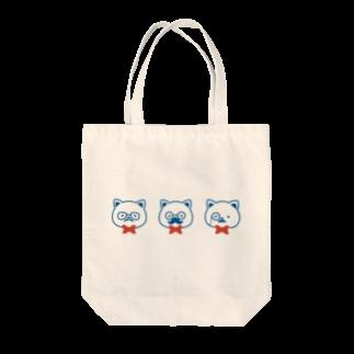 チョッちゃんのネコとヒゲとメガネ トートバッグ