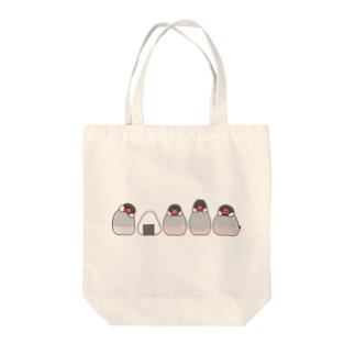 桜文鳥とおにぎり トートバッグ