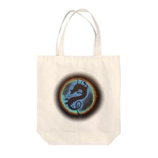 ブルードラゴン Tote bags