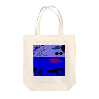 宵の祭の歌 Tote bags