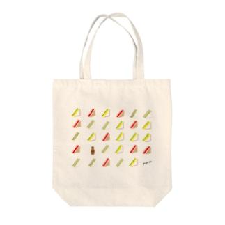 三角サンドいっぱい Tote bags