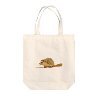 空飛ぶハリネズミ白 Tote bags
