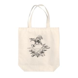 ヤノベケンジ《ザ・スター・アンガー》 Tote bags