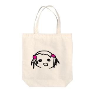 女の子の似顔絵 Tote bags