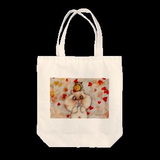 YONEのどんぐりとリス Tote bags