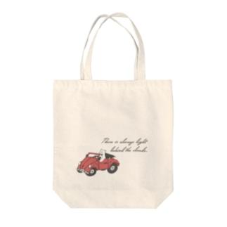 オデカケクマさん「晴れの日ドライブ」 Tote bags