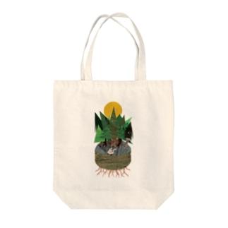 薄力小麦子のdusty-world Tote bags