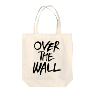 OVER THE WALL Tote bags
