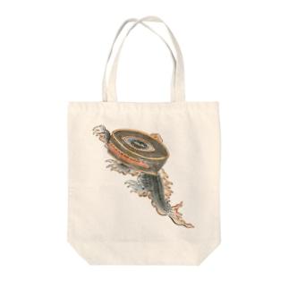 百鬼夜行絵巻 鉦鼓の付喪神【絵巻物・妖怪・かわいい】 Tote bags