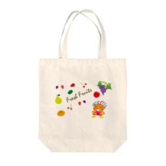 味覚狩りにお出かけクレコちゃん Tote bags
