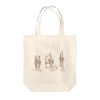 トランペット兄弟とうさぎ Tote bags