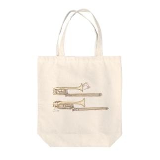 トロンボーンとうさぎ Tote bags
