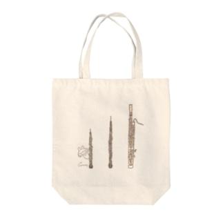 オーボエとファゴットとうさぎ Tote bags