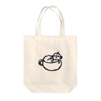 ふよこ in カフェラテ Tote bags