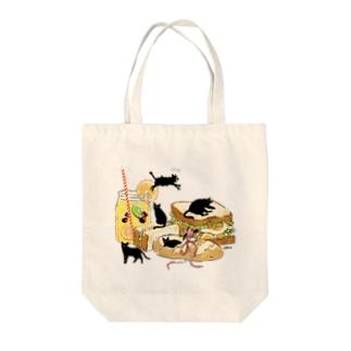 Bread CAT! Tote bags
