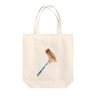 ねむくんおトイレ中 Tote bags