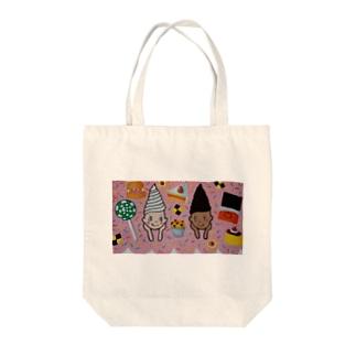 ソフトクリームガール Tote bags